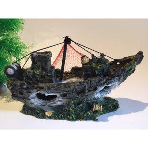 Mô hình tàu đắm trang trí thủy sinh 2