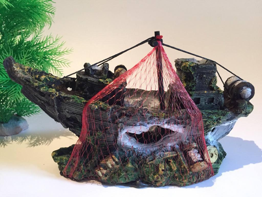 Mô hình tàu đắm trang trí thủy sinh