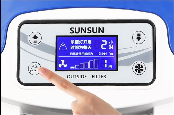 Bảng điều khiển của lọc Sunsun HW 3000