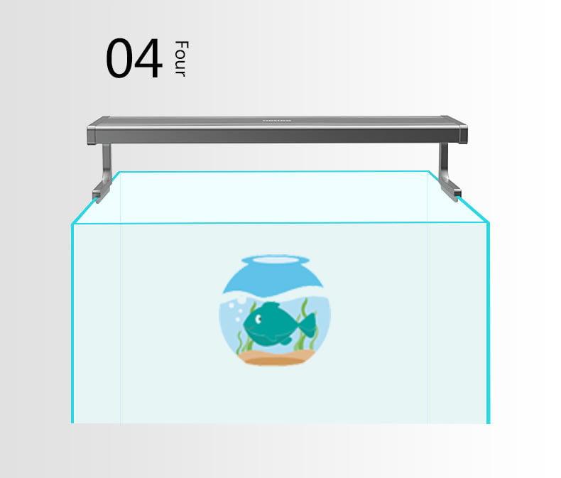Đèn Netlea khi đặt trên bể thủy sinh