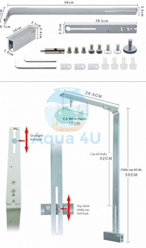 Cấu tạo giá treo đèn TS4U - CNC